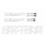 Kit Adesivos Triumph Daytona 675 R 2015 Vermelha Td003