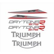 Kit Adesivos Triumph Daytona 675 R 2016 Preta Td001