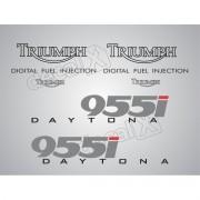 Kit Adesivos Triumph Daytona 955i Prata D955005 Decalx
