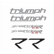 Kit Adesivos Triumph Speed Triple 675 R 2014 Preta St010