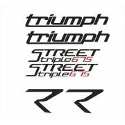 Kit Adesivos Triumph Speed Triple 675 R 2015 Branca St011