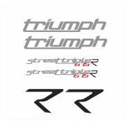 Kit Adesivos Triumph Speed Triple 675 R 2015 Preta St010