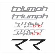Kit Adesivos Triumph Speed Triple 675 R 2015 Preta St013