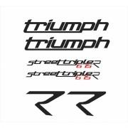 Kit Adesivos Triumph Street Triple 675 R 2014 Cinza St009