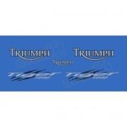 Kit Adesivos Triumph Tiger 1050 Azul Decalx