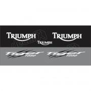 Kit Adesivos Triumph Tiger 1050 Cinza Decalx
