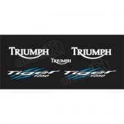 Kit Adesivos Triumph Tiger 1050 Preta Decalx