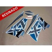 Kit Adesivos Xt225 1999 Verde Resinado