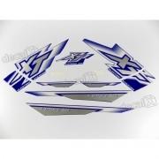 Kit Adesivos Xt225 2000 Azul Resinado