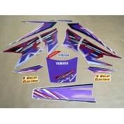 Kit Adesivos Xt600 1997 Roxa E Branca Resinado