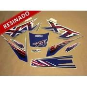 Kit Adesivos Xt600 1998 Azul E Branca Resinado