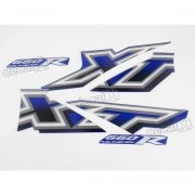 Kit Adesivos Xt 660r 2005 À 2006 Azul Resinado