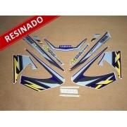 Kit Adesivos Xtz 125 2003 Azul Resinado