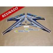 Kit Adesivos Xtz 125 2004 Azul Resinado