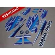 Kit Adesivos Xtz 125 2009 Azul Resinado