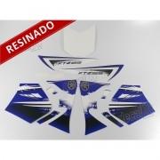 Kit Adesivos Xtz 125 2012 Azul Resinado