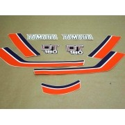 Kit Adesivos Yamaha Dt180 1982 Vermelha