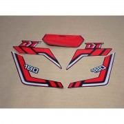 Kit Adesivos Yamaha Dtz180 1989 Preta