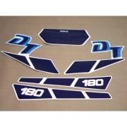 Kit Adesivos Yamaha Dtz180 1990 Branca E Azul