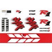 Kit Adesivos Yamaha R1 1998 Branca E Vermelha R198bv