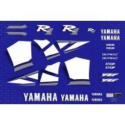 Kit Adesivos Yamaha R1 2001 Azul R101az
