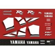 Kit Adesivos Yamaha R1 2001 Vermelha R101ve