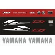 Kit Adesivos Yamaha R1 2003 Vermelha R103ve
