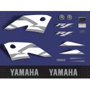 Kit Adesivos Yamaha R1 2004 Azul R104az