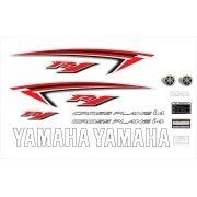Kit Adesivos Yamaha R1 2009 Branca E Vermelha Americana