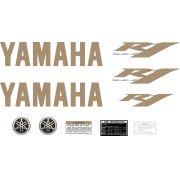 Kit Adesivos Yamaha R1 2010 Preta E Dourada R110pt2