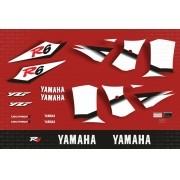 Kit Adesivos Yamaha R6 2002 Vermelha R602ve