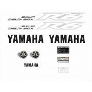 Kit Adesivos Yamaha R6 2008 Prata R608pa