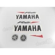 Kit Adesivos Yamaha R6 2010 Branca R610br