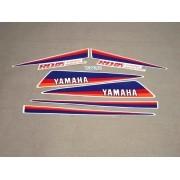 Kit Adesivos Yamaha Rd125 1986 A 1987 Branca E Prata