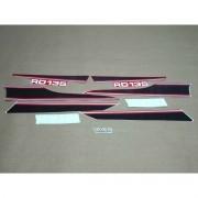 Kit Adesivos Yamaha Rd135 1987 Vermelha