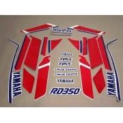 Kit Adesivos Yamaha Rd350 1987 Branca