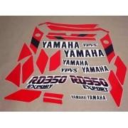 Kit Adesivos Yamaha Rd350 1989 Branca