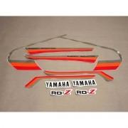 Kit Adesivos Yamaha Rdz125 1984 Vermelha E Preta