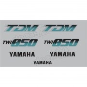 Kit Adesivos Yamaha Tdm 850 1992 À 1993 Prata