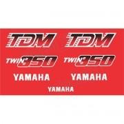 Kit Adesivos Yamaha Tdm 850 1992 À 1993 Vermelha
