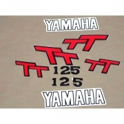 Kit Adesivos Yamaha Tt 125 1979 Branca