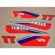 Kit Adesivos Yamaha Tt 125 1980 A 1981 Branca