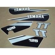 Kit Adesivos Yamaha Tt 125 1980 À 1981 Vermelha