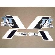 Kit Adesivos Yamaha Tt 125 1982 Azul