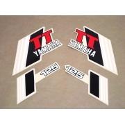 Kit Adesivos Yamaha Tt 125 1982 Vermelha