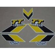 Kit Adesivos Yamaha Tt 125 1983 Prata