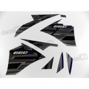 Kit Adesivos Yamaha Xt 660r 2015 Preta