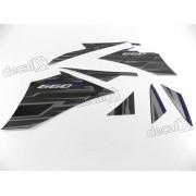Kit Adesivos Yamaha Xt 660r 2015 Preta Resinado