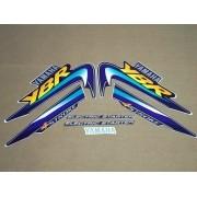 Kit Adesivos Yamaha Ybr 125 2003 Azul