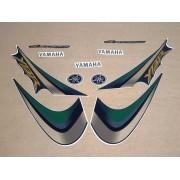 Kit Adesivos Yamaha Ybr 125 2007 Verde Perolizado